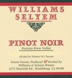 williams selyem pinot noir russian river