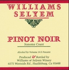 williams selyem pinot noir sonoma